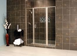 semi frameless shower doors. Semi Frame-less Panel Door In Satin Clear. Frameless Shower Doors