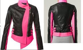 black and pink biker leather jacket sheep 9879797 zoom helmet