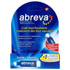 abreva cold sore treatment pump 2g