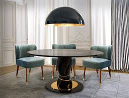 modern furniture trends dining room. the absolute contemporary dining table features a charming layered form which supports smoked glass top perfectly representing twin towers through modern furniture trends room