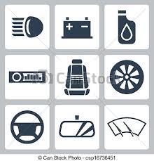 auto parts clip art. Plain Art Vector Auto Parts Icons Set Throughout Clip Art