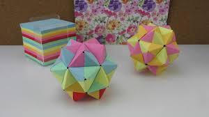 Origami Stern Modulares Origami Anleitung 3d Stern Aus