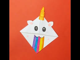 book markers origami unicorn bookmark tutorial how to make a paper unicorn bookmark collab with red