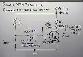 the single npn transistor audio preamp hack a week an error occurred