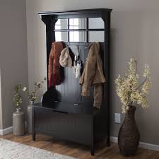 Coat Rack Bench With Mirror Metal Entryway Coat Rack And Storage Bench Ikea Image Of Home Design 5