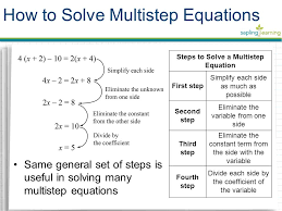 steps to solve a multistep equation