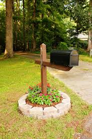 cool mailbox post ideas. Interesting Post SimpleButCute Mailbox Flower Bed And Cool Post Ideas