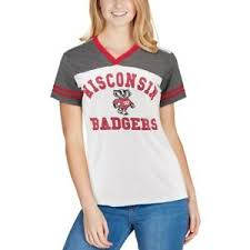 Badger Softball Pants Size Chart Details About Colosseum Wisconsin Badgers Womens White The Whole Package Jersey V Neck