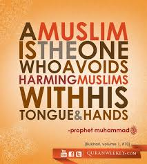 best islam images islamic quotes muslim a muslim is the one who avoids harming muslims his tongue hands