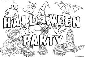 Coloriage Halloween Party Dessin
