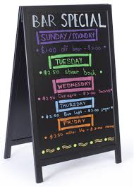 Chalkboard Menu Board 24 X 36 A Frame Chalkboard Black Wet Erase Surface 2 Sided Black