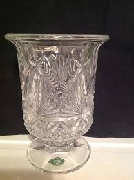 Shannon Crystal Designs of Ireland Diane Hurricane Lamp Candle Holder  Poland #ShannonCrystal