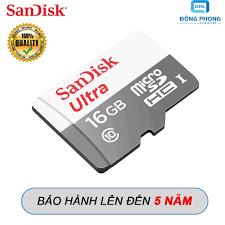 Thẻ Nhớ Micro SD 16GB Sandisk 80mb/s Chính Hãng Bảo Hành 5 Năm - Thẻ nhớ  máy ảnh
