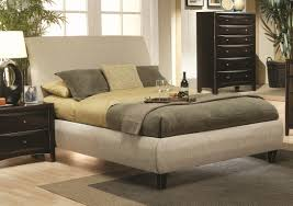 Full Upholstered Bed Frame Bedroom Cool Modern King Size Bed Frame And Headboard Idea With