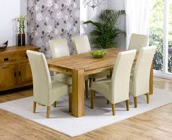 stylish cream leather dining chairs and table 1718 cream dining room chairs ideas