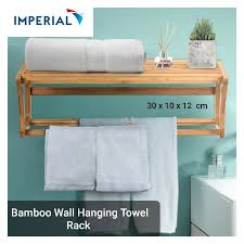 bamboo towel racks for bathroom wall