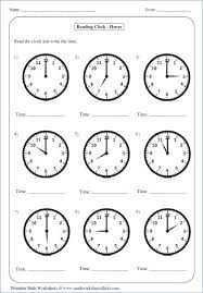 Analog Clock Worksheets For Kindergarten Collections Of Easy