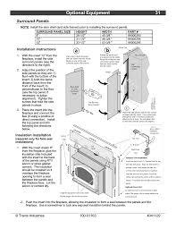optional equipment 31 surround panels installation instructions insulation installation lopi freedom bay
