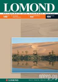 <b>Фотобумага Lomond A4 140g/m2</b> матовая односторонняя 100 ...