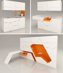 Image Space Saving When You Live In Small Space Every Square Inch Counts And Furniture That Can Expand And Contract On Demand Makes It Lot Easier To Fit All The Pinterest Pin By Chloe On Tiny Houses Pinterest Compact Living Furniture