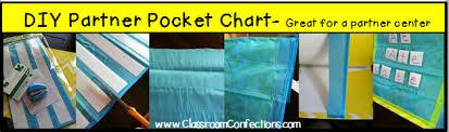 Diy Inexpensive Partner Pocket Chart Classroom Activities
