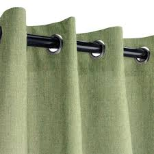 sunbrella canvas fern outdoor curtain with old copper grommets 50 in x 96 in