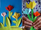 Открытка с цветами своими руками от ребенка