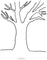 Tree Coloring Pages With No Leaves Only Coloring Pages Pinterest