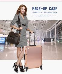 four colors to usa wheeled organizer lighted makeup case makeup box beauty case professional with lights and legs in cosmetic bags cases