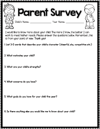 School Survey Questions For Parents Getting To Know Your Students School Stuff School Classroom