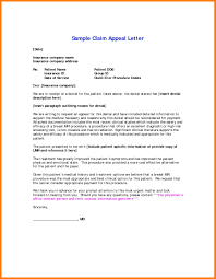 Medical Claim Appeal Letter Template Samples Letter Cover Templates