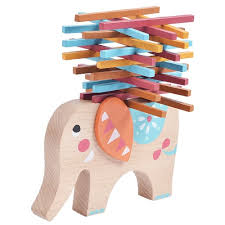 Game With Wooden Blocks Wooden Balance Elephant Wooden Blocks Balance Toy Table Game 49