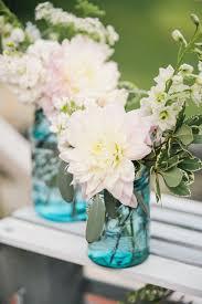 Blue Mason Jars Wedding Decor 100 Rustic Backyard OutdoorGarden Wedding Ideas Blue mason jars 34