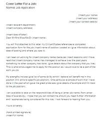 Example Of Covering Letter For A Job A Cover Letter For A Job ...