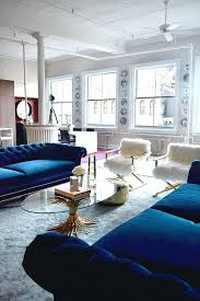 dark blue couch. Blue Velvet Couch Living Room With Green Wallpaper And Sofa Dark R