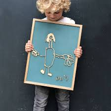 Bespoke Child's Drawing <b>Wooden Wall</b> Art – Modo <b>Creative</b>