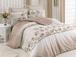 ro brown double quilt cover set 143epj1893 brown white beige green