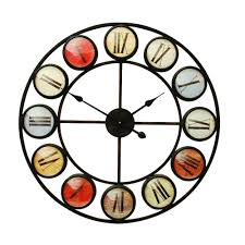 compact large contemporary wall clock  large modern metal wall