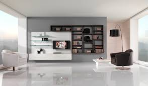white room with black furniture. Black And White Living Room Furniture With Functional TV Stand N