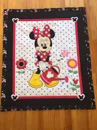 Baby Quilt/Baby Quilt Panel/Minnie Mouse Quilt/Baby Girl Quilt ... & Baby Quilt/Baby Quilt Panel/Minnie Mouse Quilt/Baby Girl Quilt/Minnie Mouse  Panel/Minnie Mouse Crib Bedding/Disney Crib Bedding/Disney Quilt Adamdwight.com
