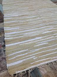 fair trade rugs fair trade recycled natural beige white soft rag rug cm x cm fair