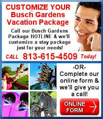 busch gardens tampa vacation packages. call and customize your tampa busch gardens vacation today. packages d