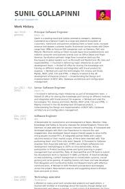 principal software engineer resume samples resume samples for software engineers
