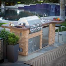 Bbq Outdoor Kitchen Kits Modular Outdoor Kitchens Kit And Accessories Island Kitchen Idea