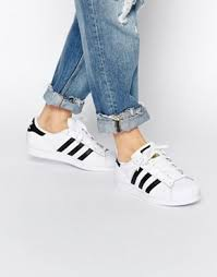 adidas womens. adidas originals unisex superstar white \u0026 black sneakers womens