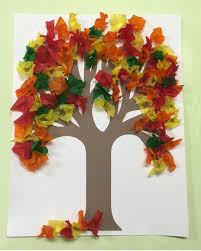 Use your pencil to make the leaves for this Fall Tissue Paper Tree. It gives