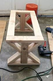 Build your own wood furniture Rocking Top Of Bench Attached Bench Bottom Complete 2x4 Bench 2x4 Table Diy Wood Pinterest 1545 Best Diy Furniture And Wood Projects Images In 2019 Bricolage