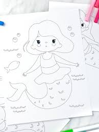 We have free printable coloring pages that includes mermaids and other coloring subjects that you may be interested to work on. Printable Mermaid Coloring Pages For Kids