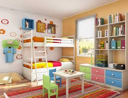 Loft Bedroom Storage Colorful Kids Bedroom Storage Ideas With White Bunk Beds Home
