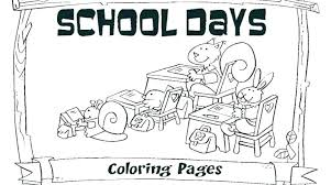 1st Day Of First Grade Coloring Page School Printable Pages Da Last